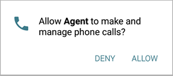 allow Agent to manage phone calls