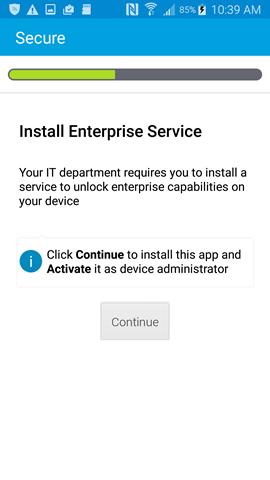 install enterprise service