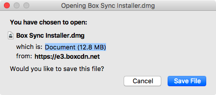 save the Boxy Sync installer file to your compute