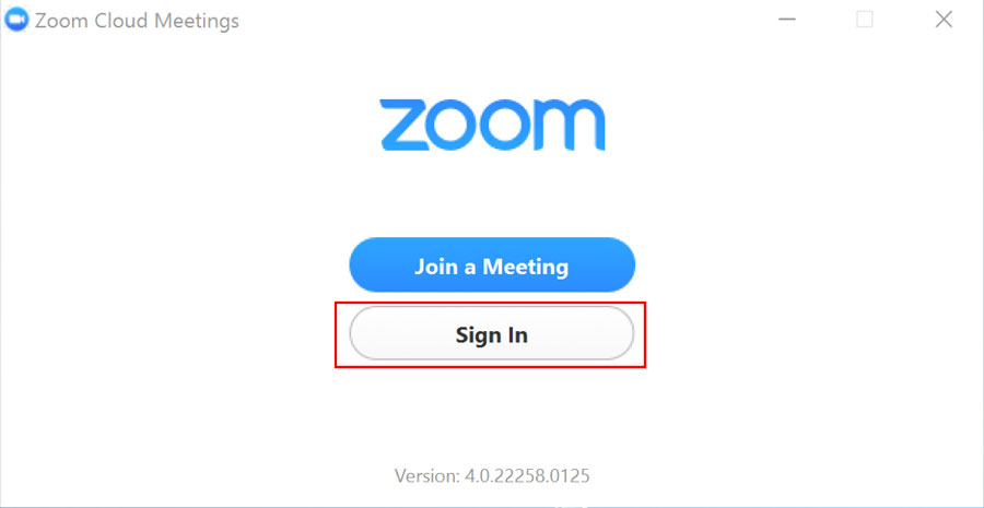 once the zoom client for meetings is installed click sign in