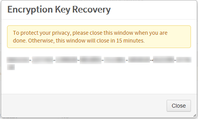 How to Self-Recover Your Computer Encryption Key | University IT