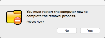 choose to restart your computer now or click no to return to the main window