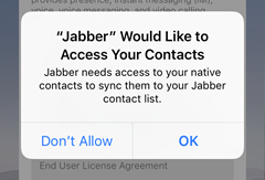allow Jabber to access your contacts