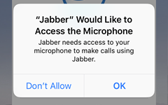allow Jabber to access your microphone