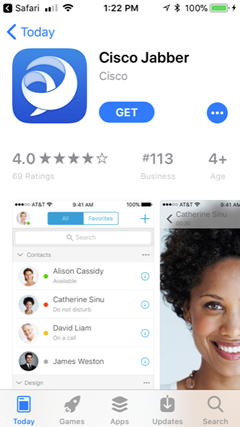 get Jabber from the App Store