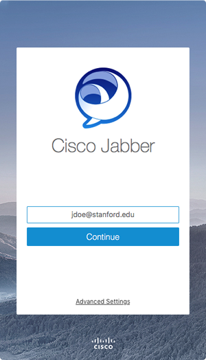 log in to Jabber with your username