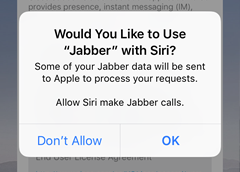 decide whether you want to use Jabber with Siri