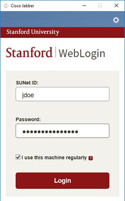 WebLogin window