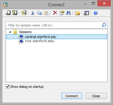 preconfigured Stanford sessions