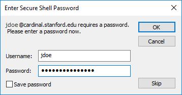 enter your SUNet ID password