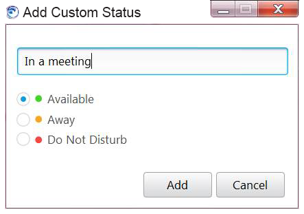 custom status window