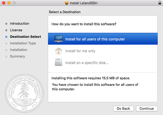 select where you want to install the software