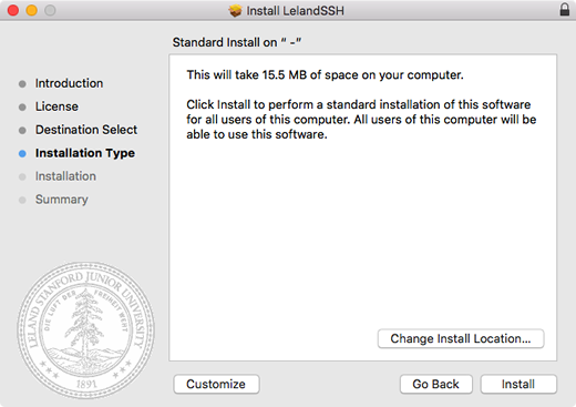 click Install to start the installation