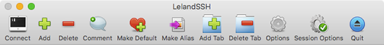 LelandSSH toolbar