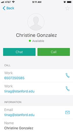 contact status window