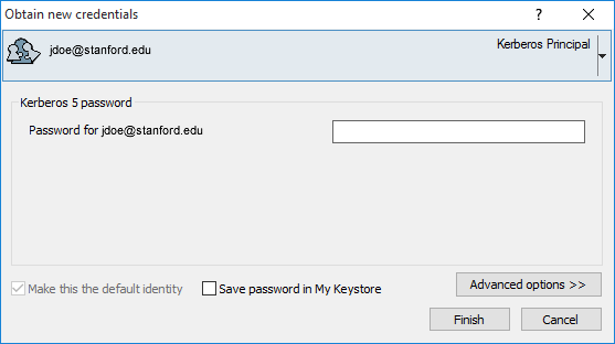 obtain new credentials by entering your SUNet ID password