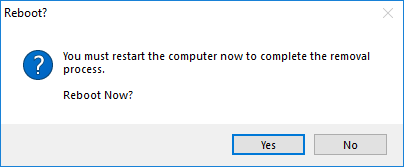 choose to restart your computer now or click no to exit