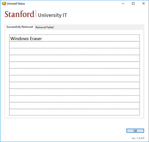 Stanford Software Removal Tool | University IT