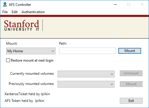 mount your home directory