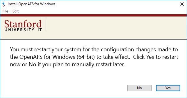 prompt to restart your computer