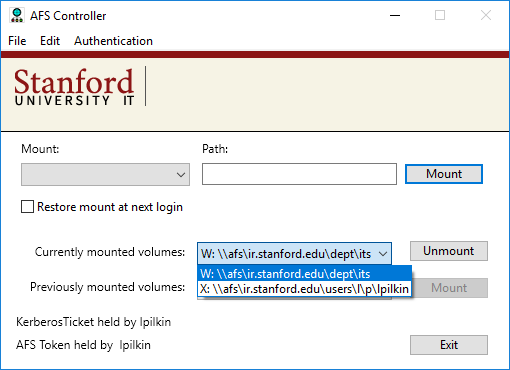 disconnect a mounted volume
