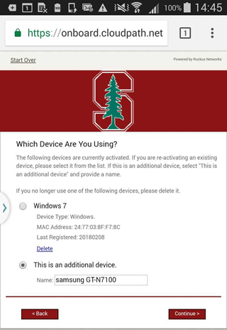 Install a Client Certificate on an Android Device | University IT