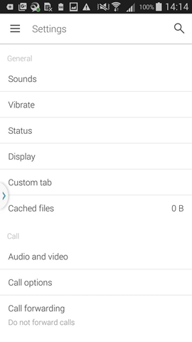 access audio and video settings