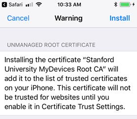 Install a Cardinal Key on an iOS Device | University IT