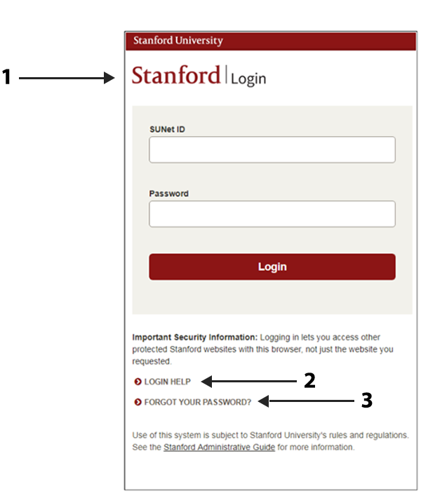 Image of new login page with arrows showing changes