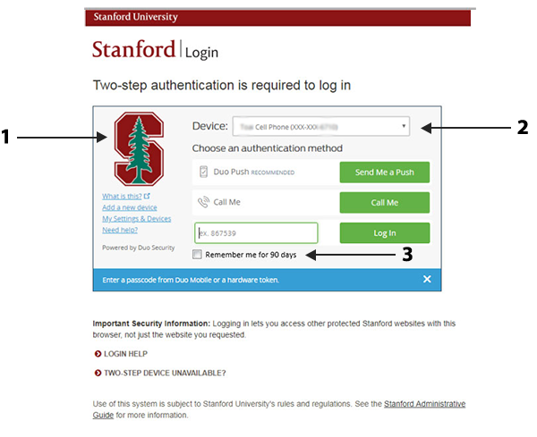 Image of two-step page with arrows showing changes