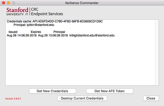 Kerberos Commander main window