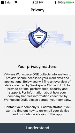 privacy notice about information VMware collects