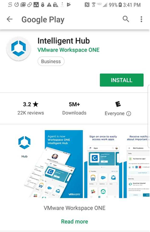 install Intelligent Hub from Play Store