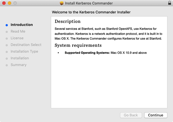 introduction to Kerberos Commander installer