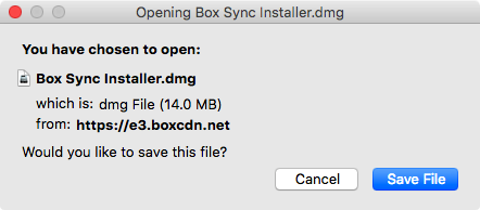 save the Boxy Sync installer file to your computer