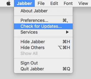 Update Jabber - Mac | University IT