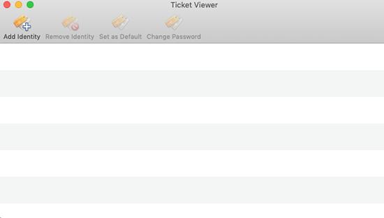 Ticket viewer screen
