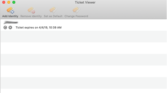 Ticket viewer screen with expiration date and time