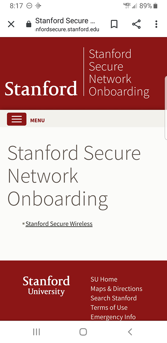 Stanford Secure screen
