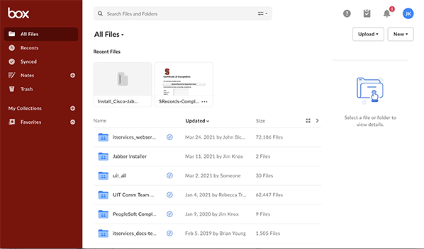 box folder window image