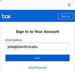 box login page image