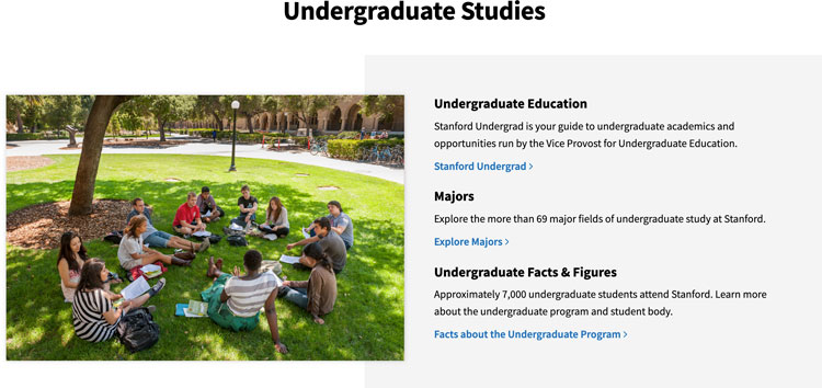 Research page from Stanford with a stock photo