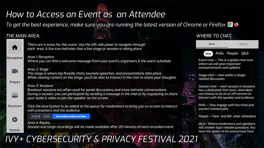 How to Access an Event as an Attendee