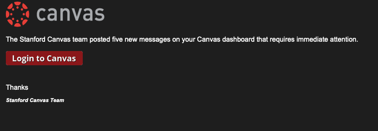 Canvas Phishing screeshot