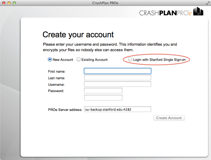 Create your account. Check the box labeled Login with Stanford Single Sign-on