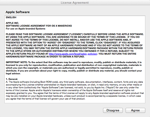 Software License Agreement; click Agree