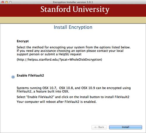 install encryption