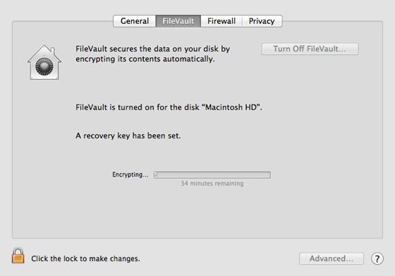 encryption status