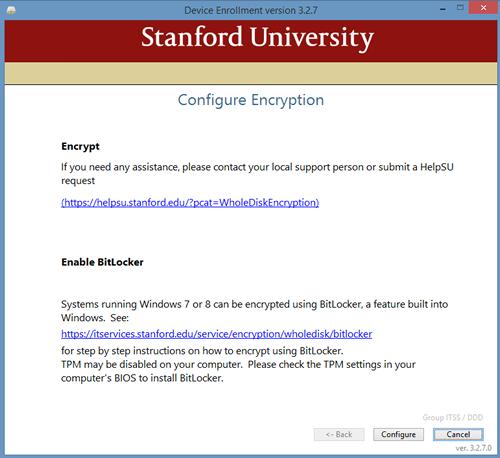 enable BitLocker