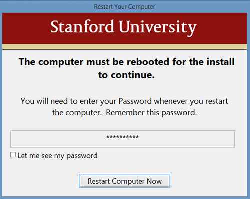 you need to restart your computer: